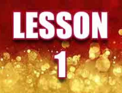 Lesson 1 – The Gift That Saves